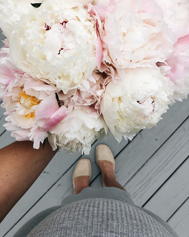 Nothing better to brighten a dreary day than the sweetest baby bump and fresh bouquet 💐