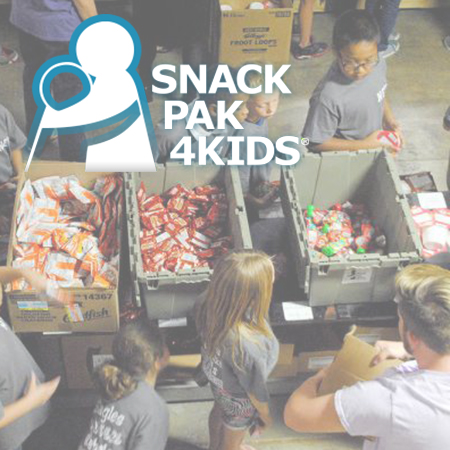 Snack Pak 4 Kids San Antonio   A San Antonio non-profit providing  weekend food supplements to serve the needs of chronically hungry children, addressing the relationship between food insecurity and learning.