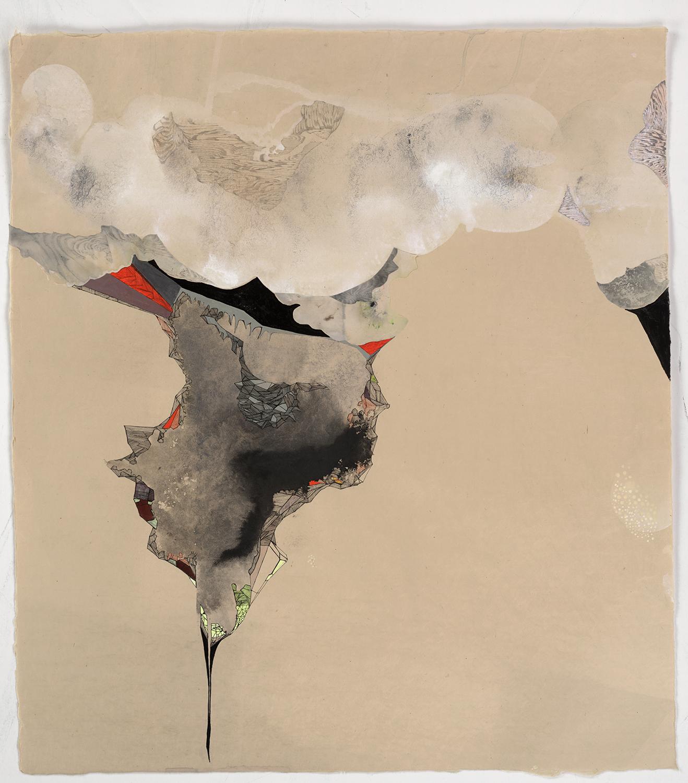 "Alpine 10 - 18""x 20"", ink, gouache, graphite on paper, 2011"