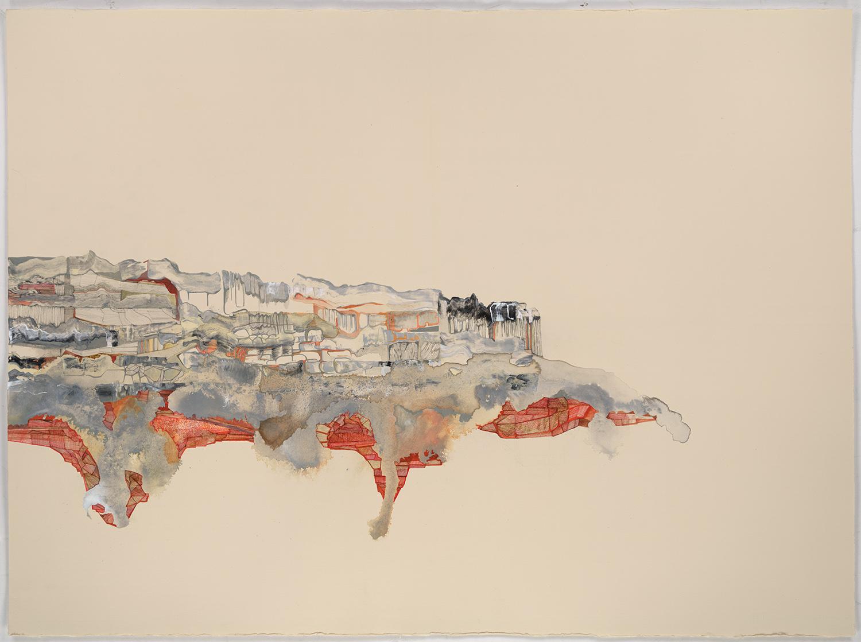 "Petroleum 1 - 22""x 30"", ink, gouache, graphite on paper, 2012"