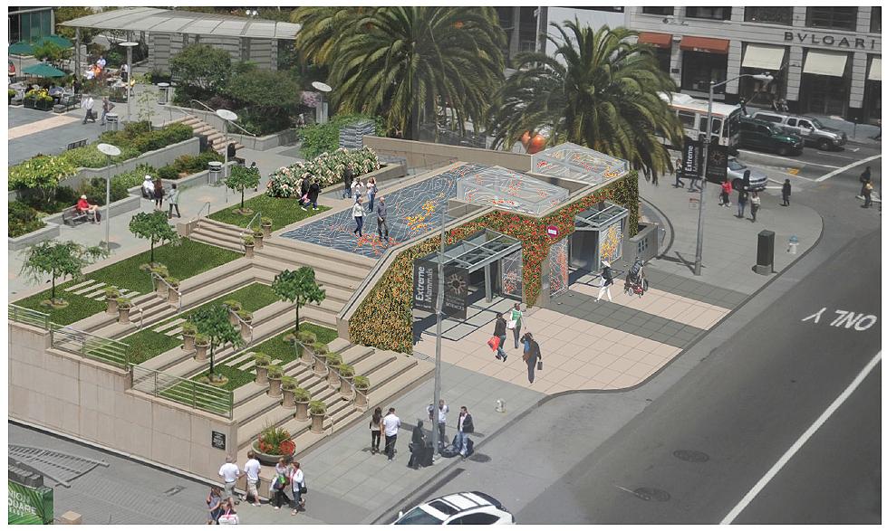 Southeast corner, Union Square, San Francisco