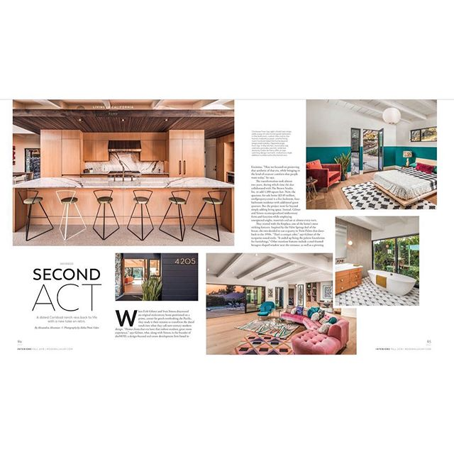 My staging was featured in Modern Luxury Interiors California! Love this colorful retro Carlsbad oasis 😘🙌🏻