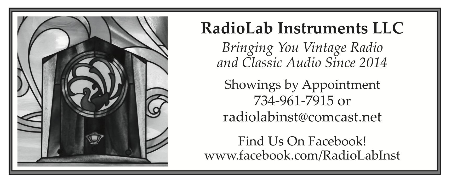 WCTH is SPONSORED BY Radiolab Instruments LLC