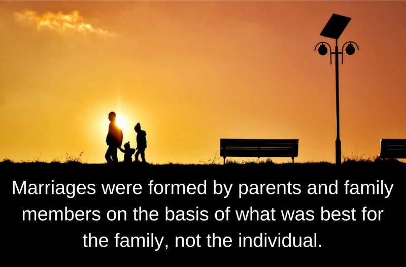 Partners and marriages were formed by parents and family members on the basis of what was best for the family, not the individual..png