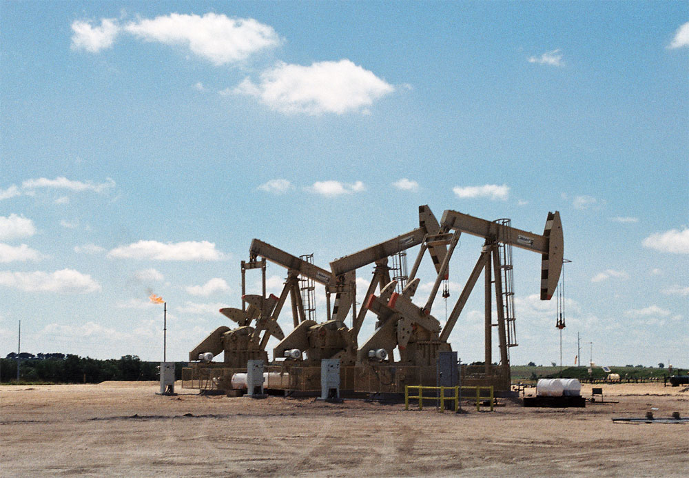 So this is what an oil rig looks like...