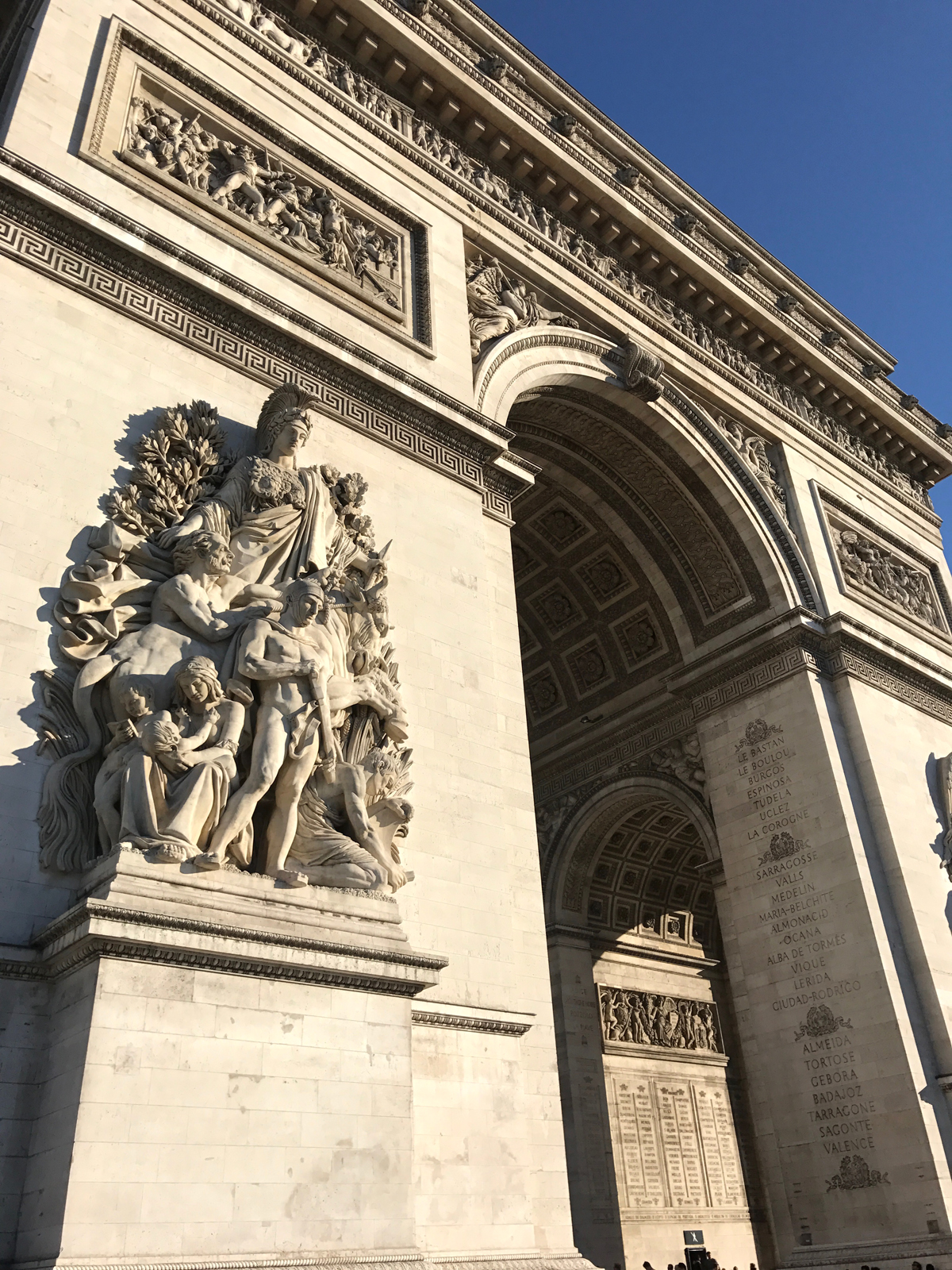 Arc de Triomphe close up