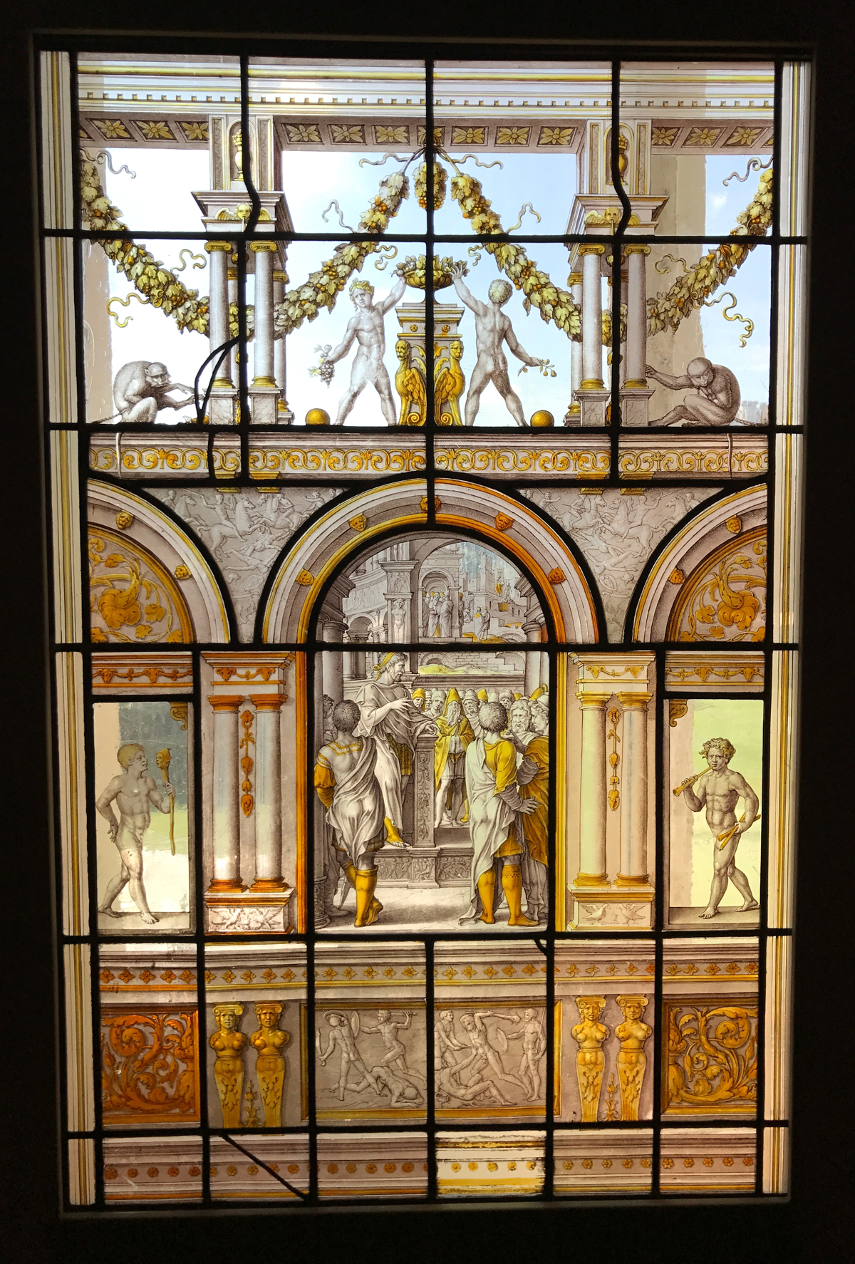 Lovely lit window at the Museum of Decorative Arts
