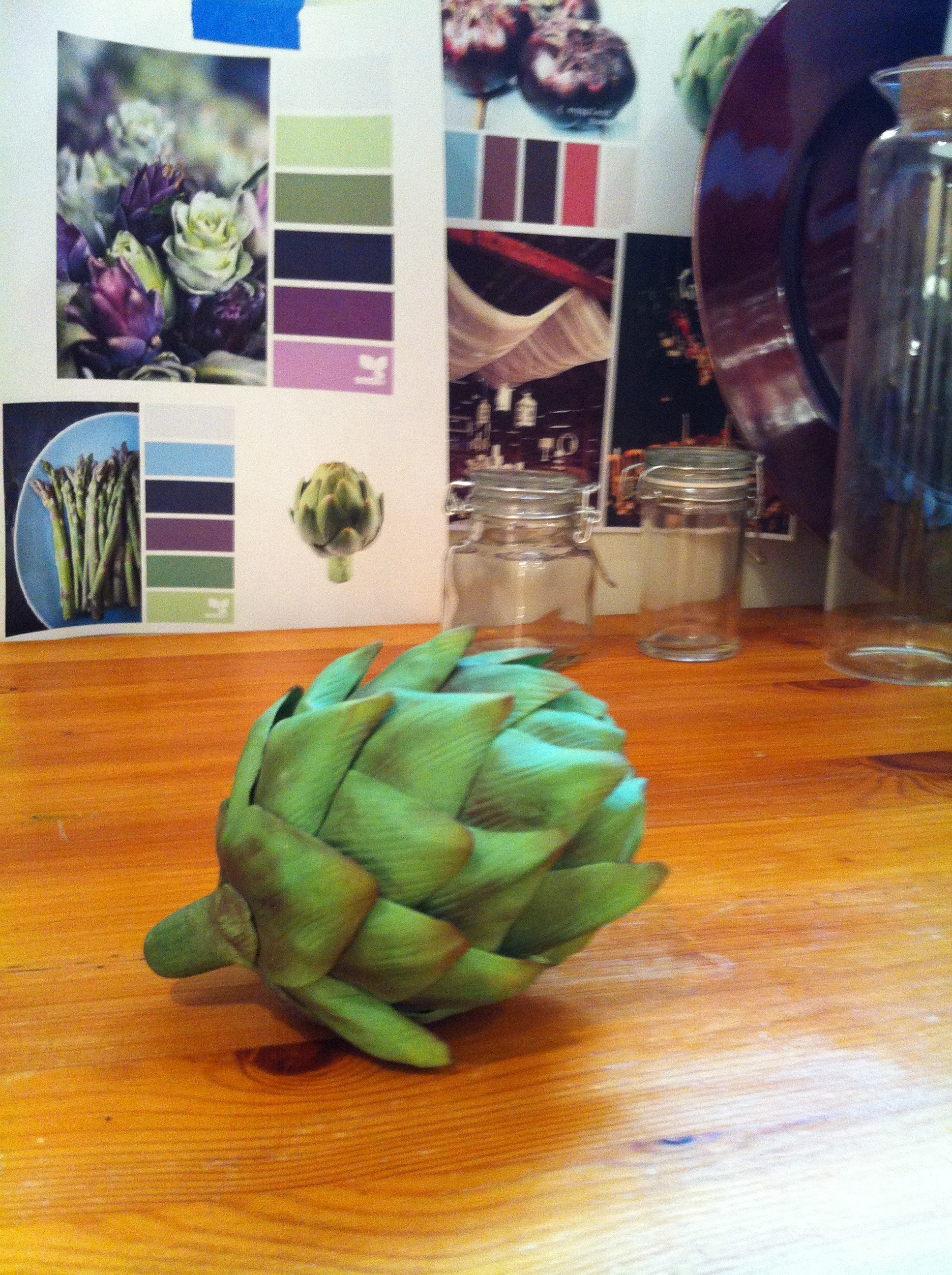 Handmade sugar artichoke