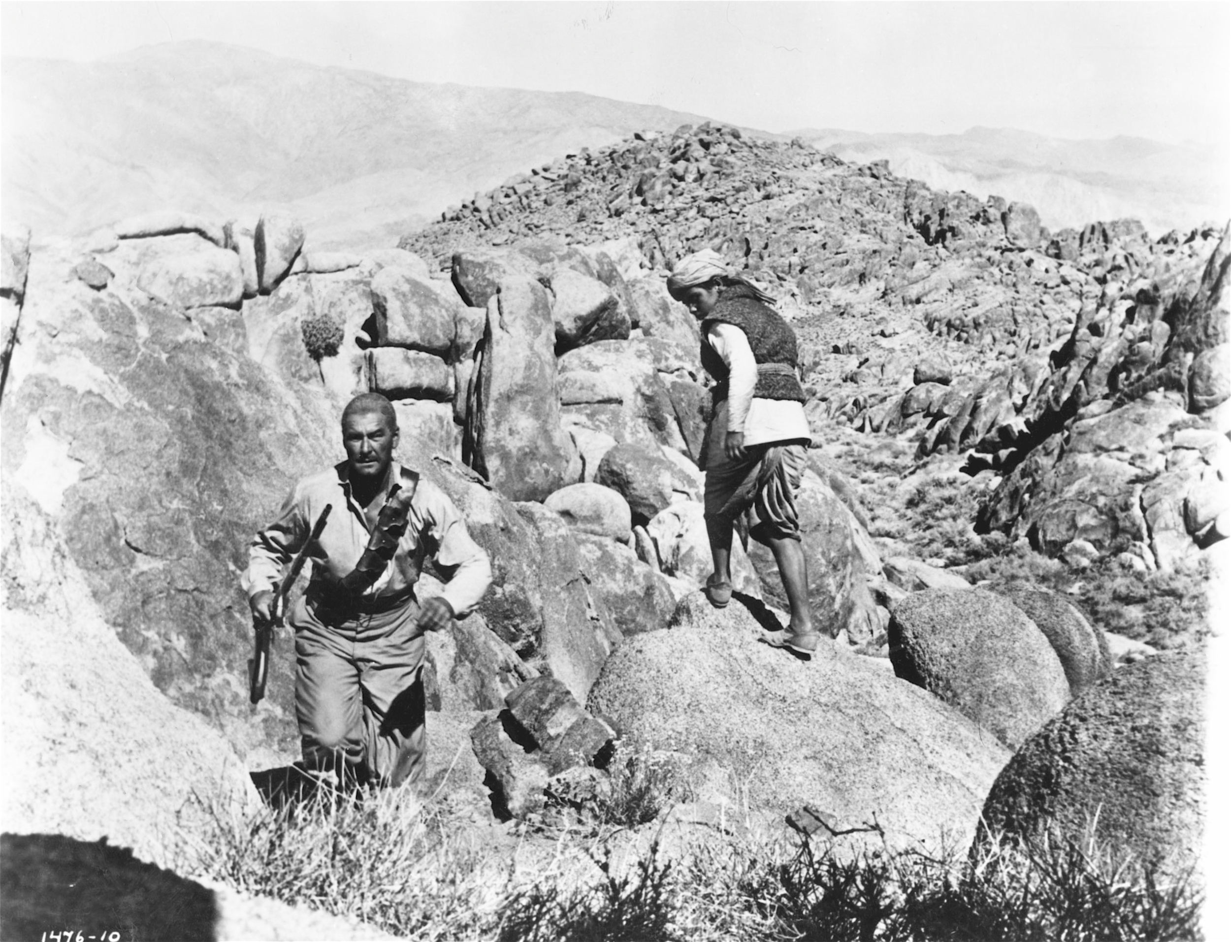 The film company came to the Alabama Hills because they look so much like the Khyber Pass.