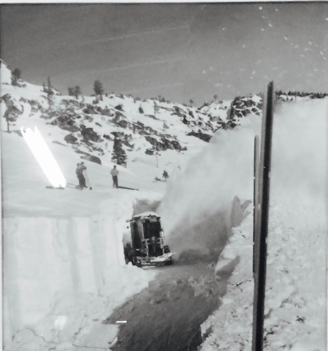 Donner Summit averages 34 feet of snow annually. DSHS archive photographed by Christopher Langley