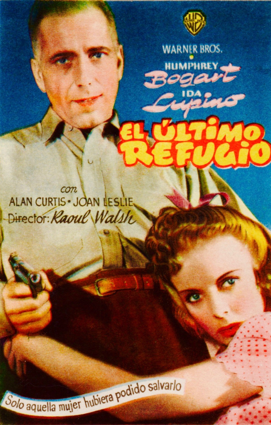 "A Spanish mini poster captures the controversy of guns and sex that marked ""High Sierra."""