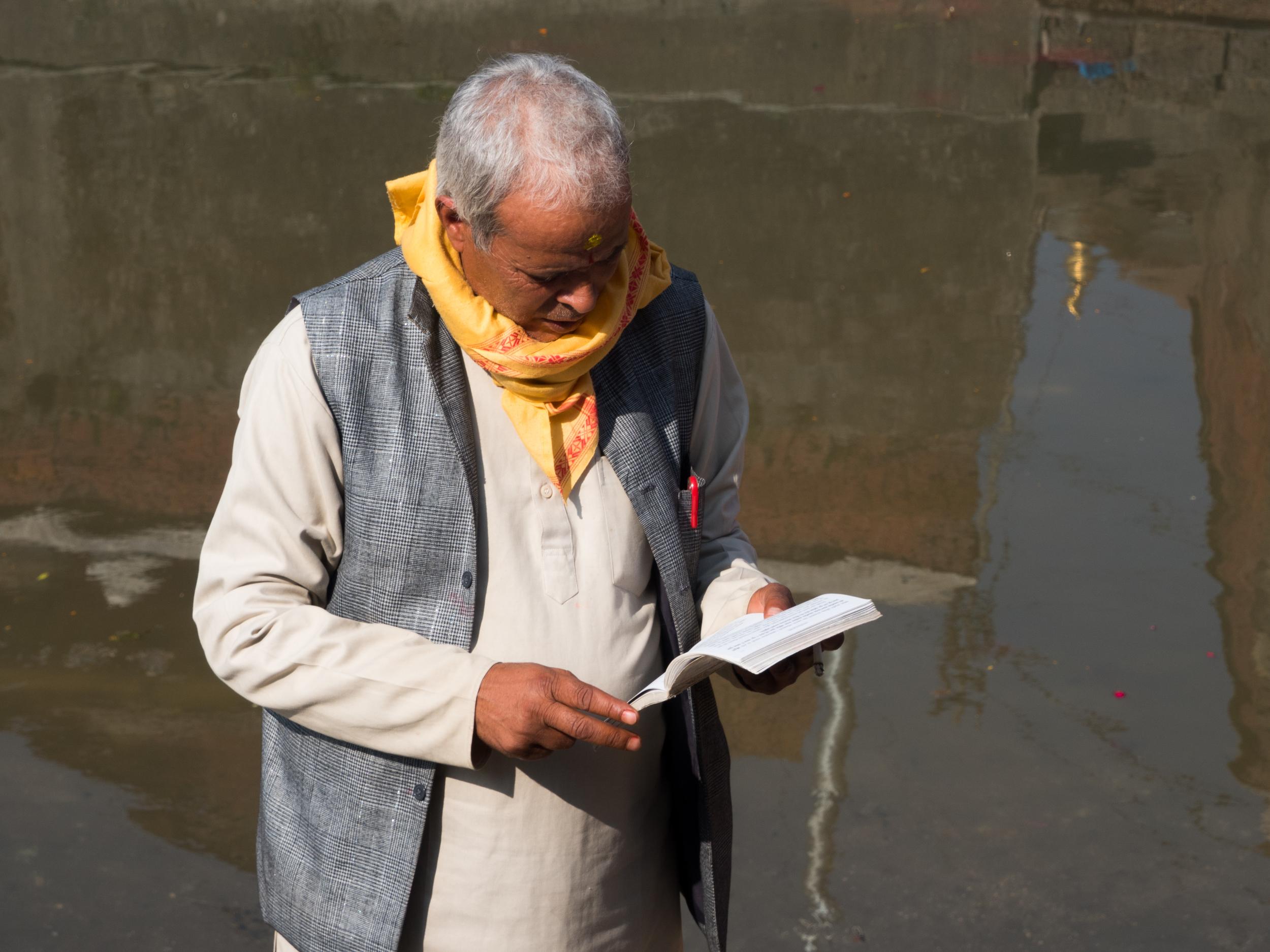 Reading Along the Bagmati River, 2015