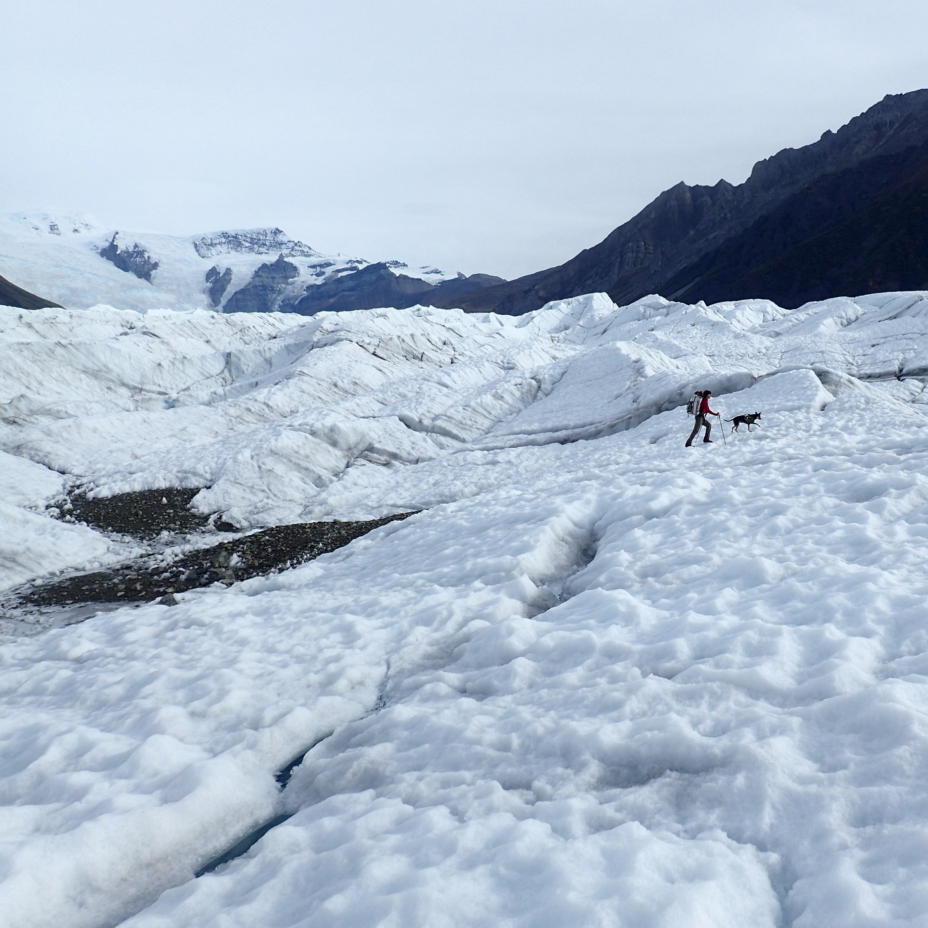 Crossing the Root Glacier