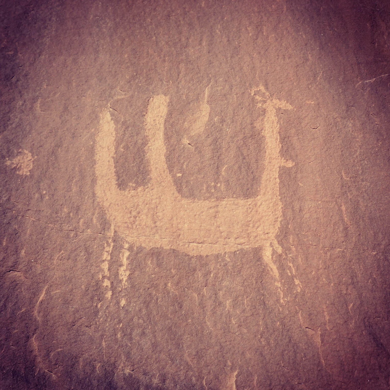 petroglyphs near Moab Utah
