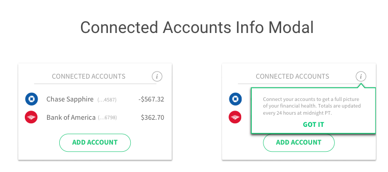 connected accounts modal