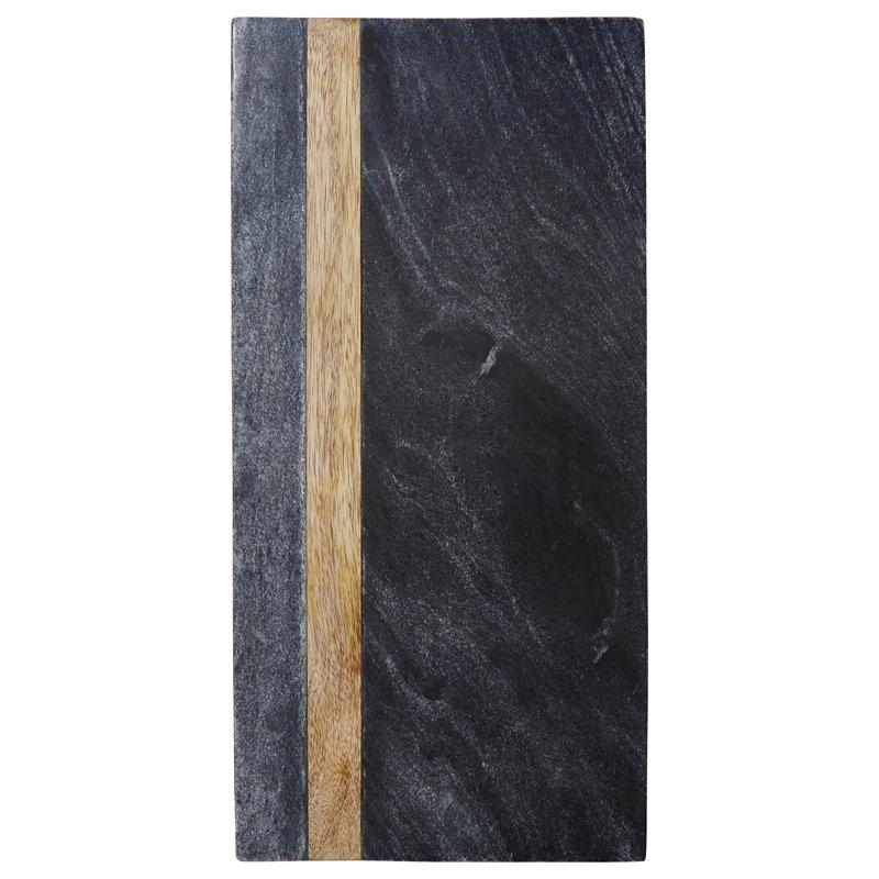 $39.50  Black Marble & Wood Board