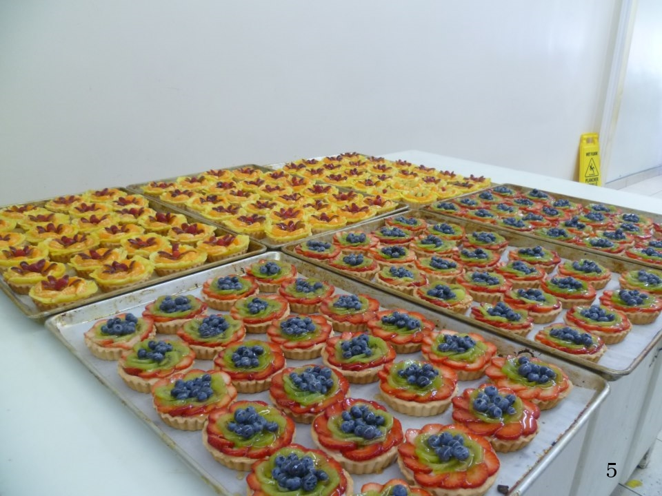 Small fruit pastries