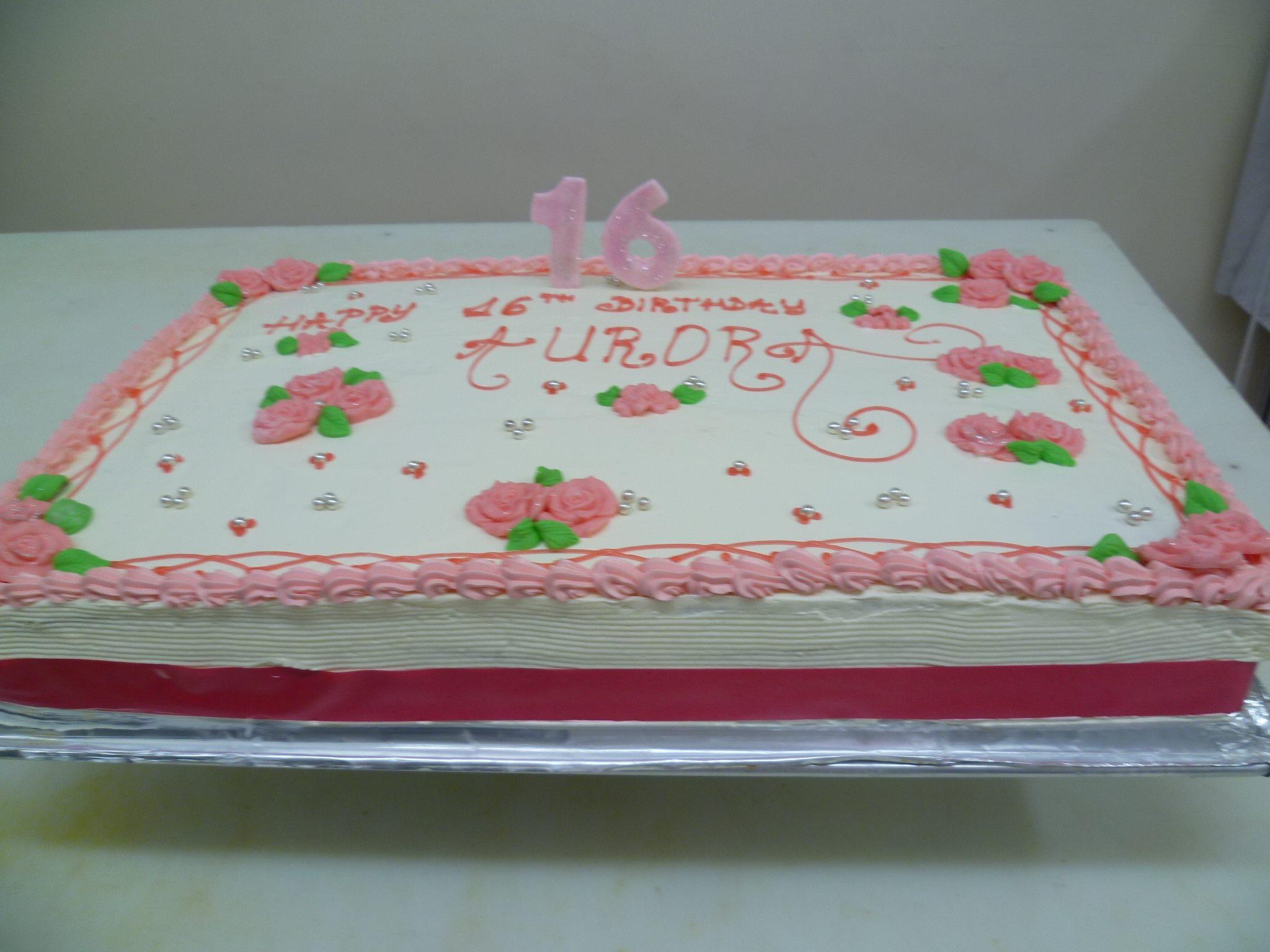 Gâteau d'anniversaire rectangle 01