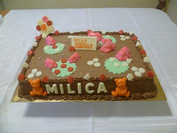 Gâteau d'anniversaire carré 09