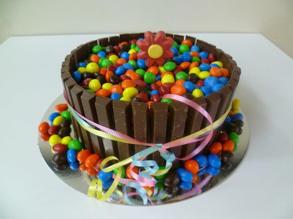 Gâteau de bonbons et de chocolat