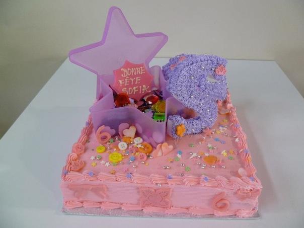 Gâteau d'anniversaire carré 02