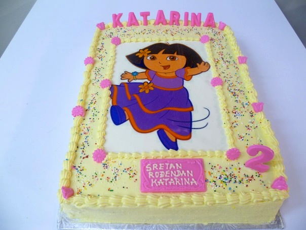 Gâteau d'anniversaire rectangulaire à motif imprimé 08