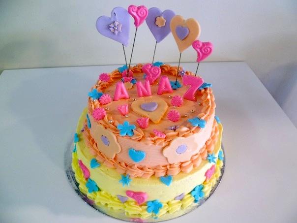 Gâteau d'anniversaire rond à deux étages 2