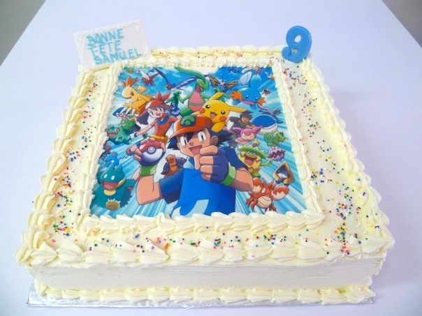 Gâteau d'anniversaire rectangulaire à motif imprimé 04
