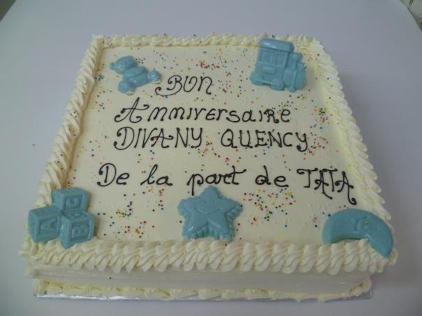 Gâteau d'anniversaire carré 14