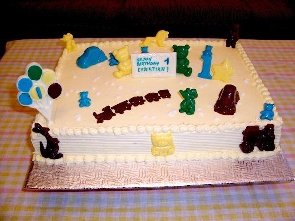 Gâteau d'anniversaire rectangle 02