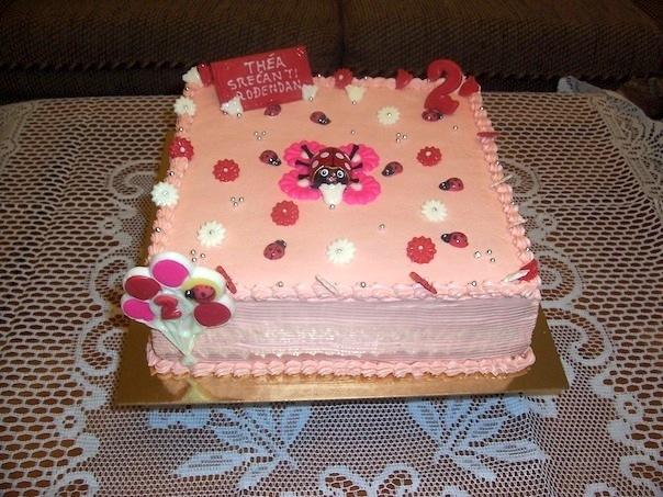 Gâteau d'anniversaire carré 04
