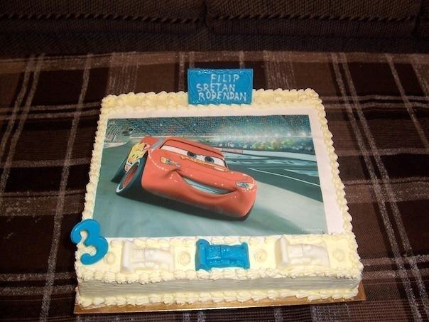 Gâteau d'anniversaire rectangulaire à motif imprimé 02