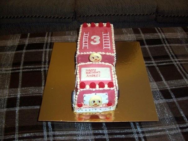 Gâteau en forme de camion