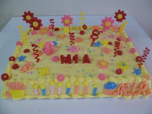 Gâteau d'anniversaire carré 06