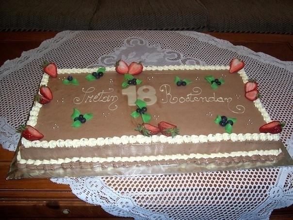 Gâteau classique rectangulaire 02