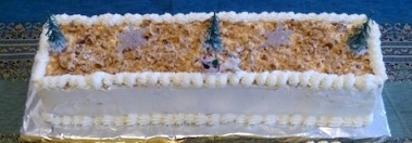 Gâteau classique rectangulaire de noël