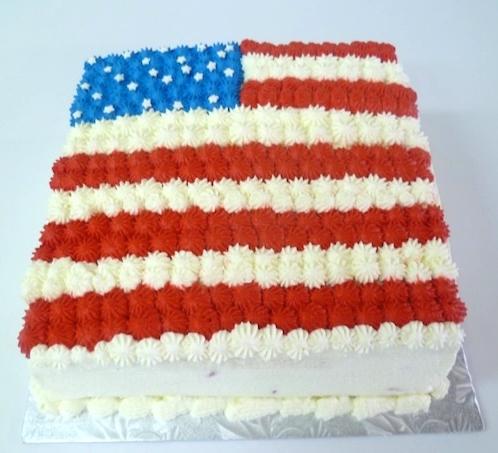 Gâteau rectangulaire en forme de drapeau