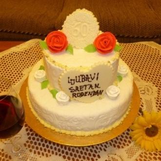 Gâteau classique à deux étages