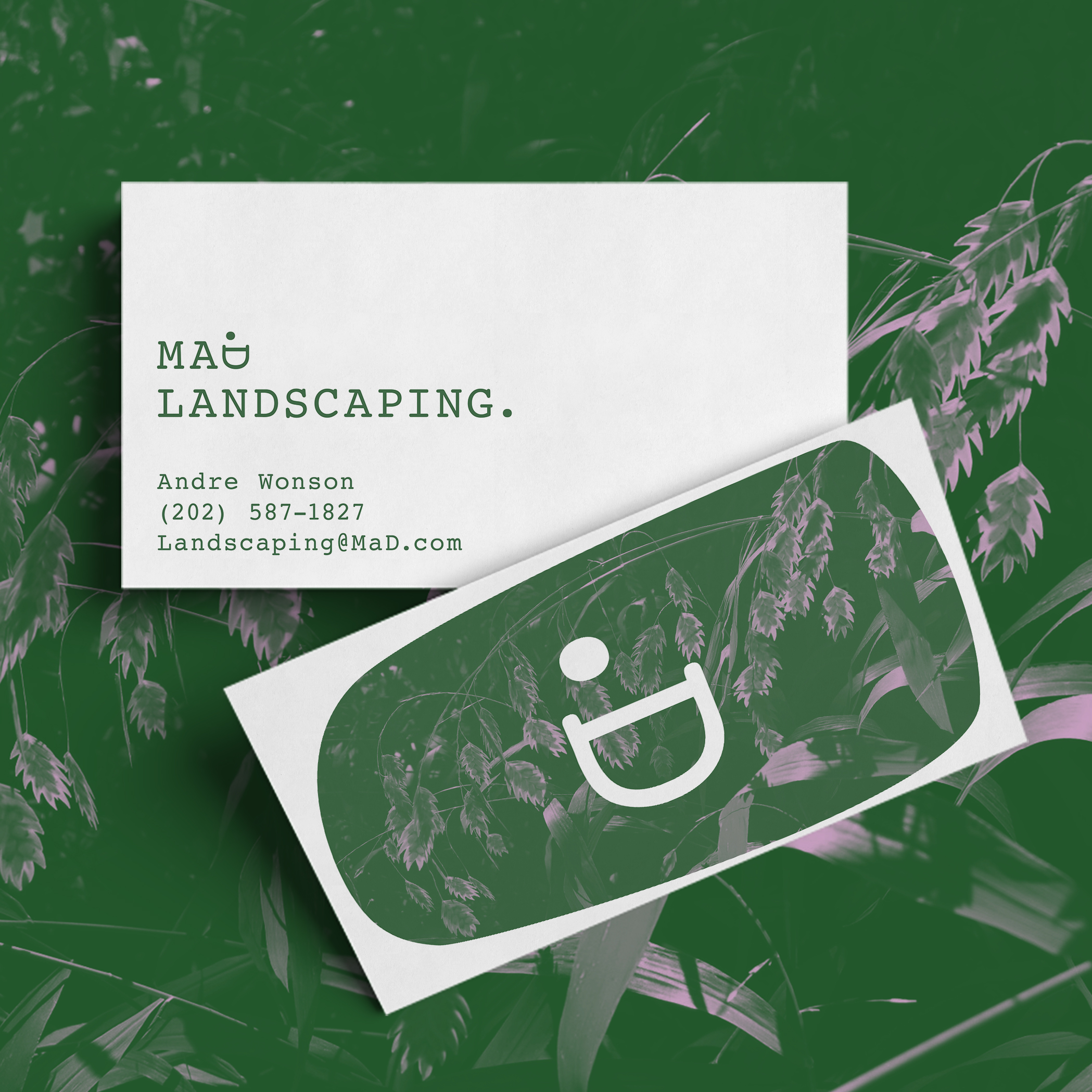 Option 2 Landscaping Business Card