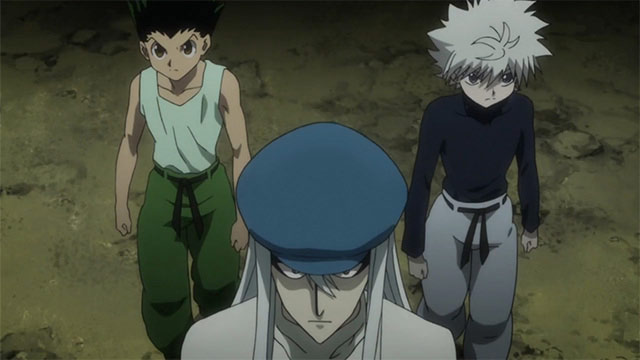 Gon (Left) Kite (Center) Killua (Right)