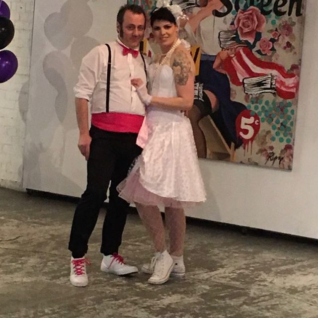 Brianna and Anthony fabulous themed wedding #smartartzgallery #weddingfun #industrialwedding