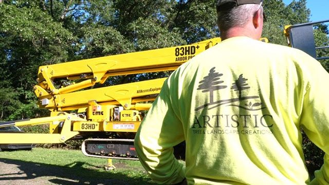 """Artistic Tree & Landscape gave us the opportunity to spend the day on site with them to see their """"Spider"""" machine in action!  This allows them to get into hard to reach areas without destroying their clients yard. Pretty cool!  We highly recommend Artistic Tree & Landscape for your next tree removal, or landscaping project."""