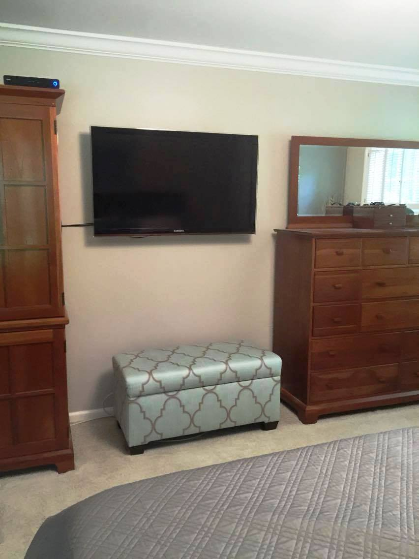 BEFORE: TV/DRESSER WALL
