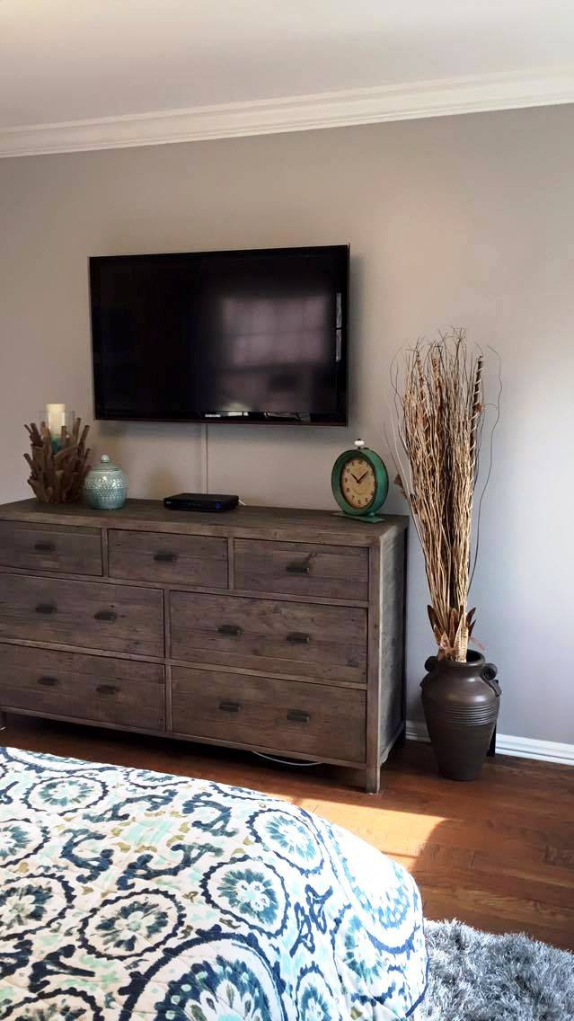 AFTER: TV/DRESSER WALL