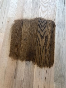 Stain selection for refinishing existing floors