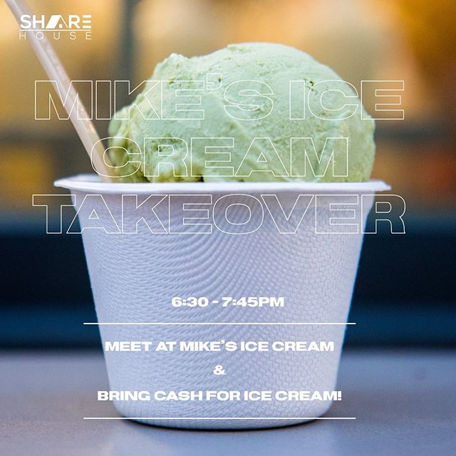 Youth group at Mike's Ice Cream Tonight! Make sure to meet at Mikes & not the church! Also make sure to bring cash if you plan on buying ice cream! See you there! 🍦