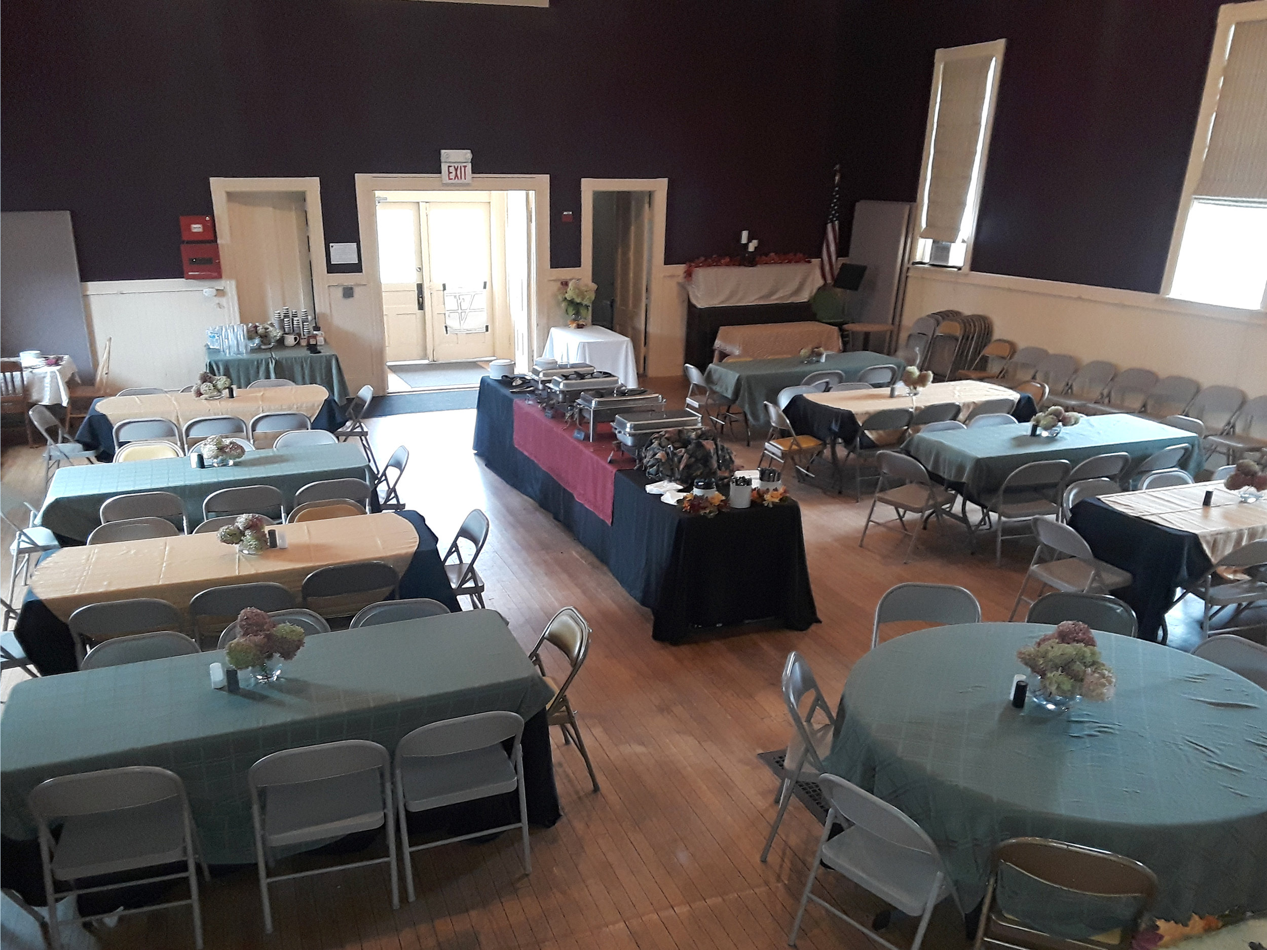BCAC hall tables from stage.jpg