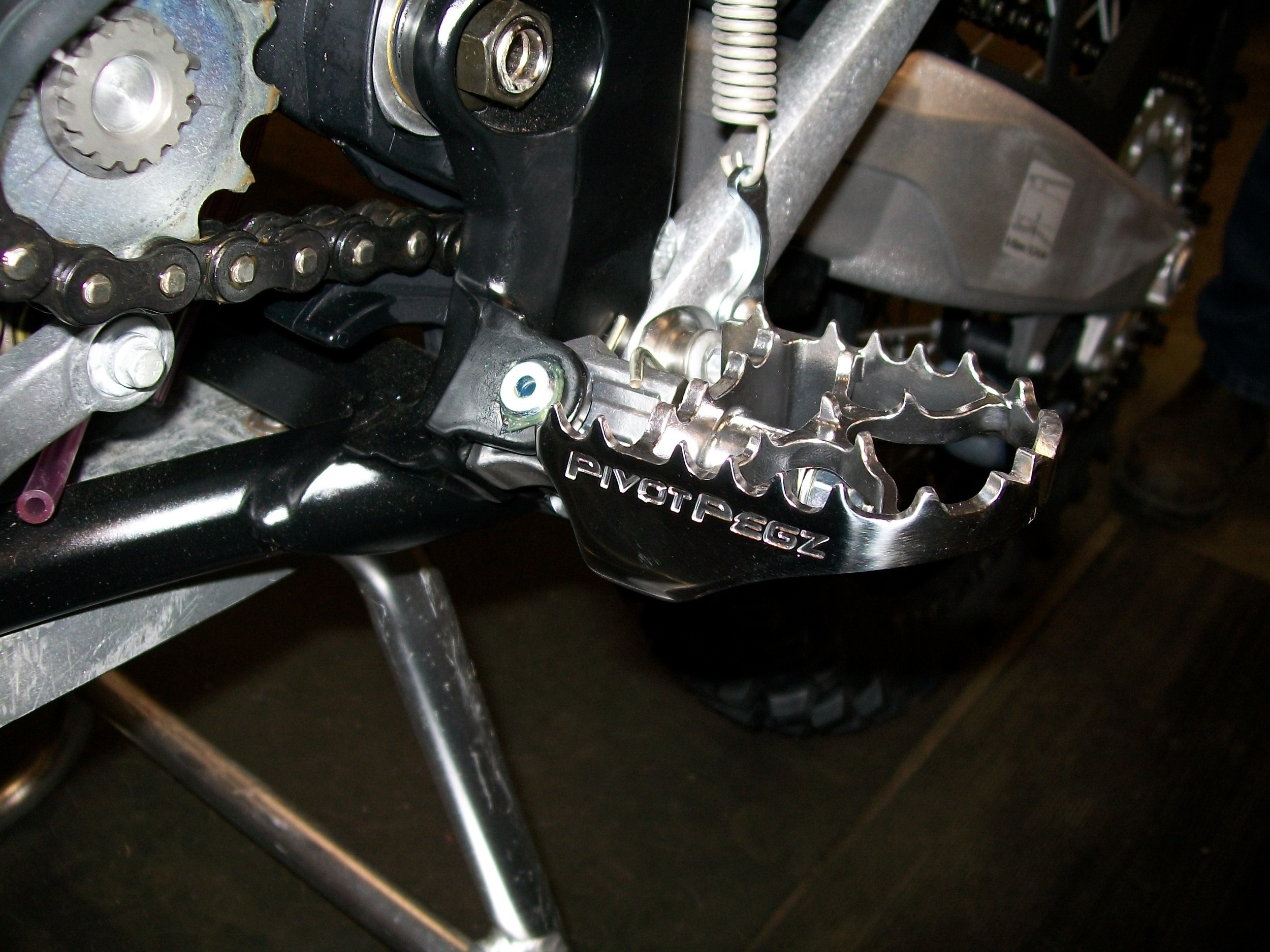 Pivot Pegz fitted to a new KTM 300