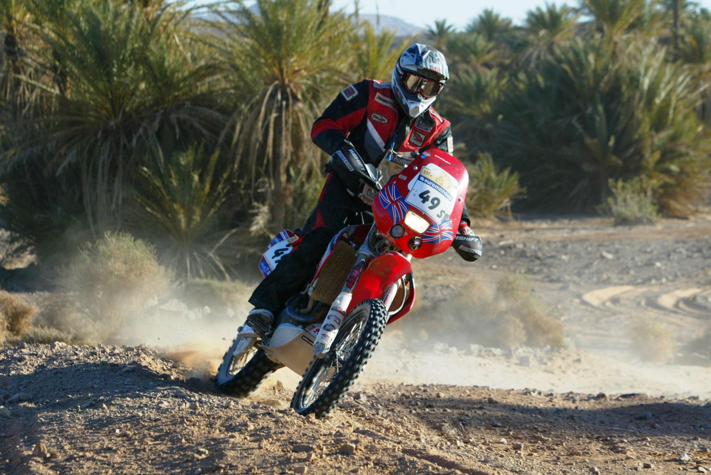 Pivot Pegz equipped Dakar Rally bike