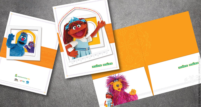 "Press Kit Folder for ""Galli Galli Sim Sim"" (Sesame Street India)"